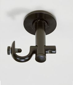 Becket Ceiling Mount Brackets are part of Country Curtains' Becket Hardware Collection, available in hand-finished Antique Brass, Antique Brown, Black, Nickel or White to match virtually any canopy bed project. Ceiling Mount Curtain Rods, Branch Curtain Rods, Curtain Brackets, Diy Curtain Rods, Ceiling Curtains, Curtain Holder, Home Curtains, Country Curtains, Sheer Curtains