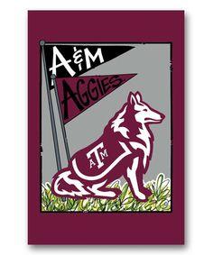 Look at this #zulilyfind! Texa A&M Aggies Mascot Flag by Magnolia Lane #zulilyfinds