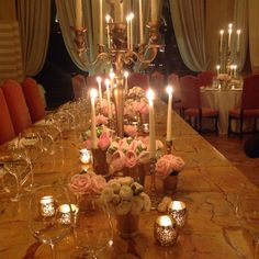Gold long table