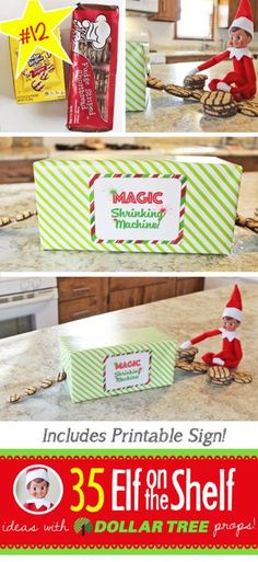 BRAND NEW Creative & Funny Elf on the Shelf Ideas with Dollar Tree props! 35 ALL NEW Elf on the Shelf ideas for this year! These fun, creative & EASY ideas all include an item from the Dollar Tree! Funny Christmas Wishes, Christmas Elf, Christmas Humor, Christmas Cookies, Christmas Ideas, Christmas Presents, Dollar Tree Christmas, Christmas Printables, White Christmas