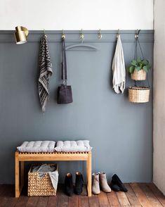 Unique & Rare Wall Color Ideas For Every Room - Eingang Hallway Inspiration, Interior Inspiration, Bathroom Wall Colors, Neutral Bathroom, Small Bathroom, Hallway Colors, Home Interior Design, Interior Decorating, Hall Interior