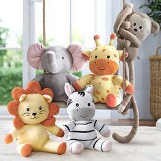 Little Safari Friends Plush Toys 5 Pieces Baby Bedroom, Baby Room Decor, Boy Room, Kids Room, Nursery Room, Happy Baby, Little Giraffe, Baby Room Design, Baby Bassinet