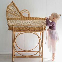 vintage baby bassinet - swoon! image features minouche tulle skirt www.minouche.com.au