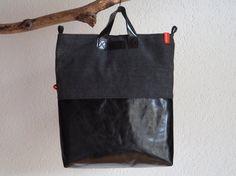 Tasche Leder mit Canvas unisex MIX black Tote Bag von mnidesign