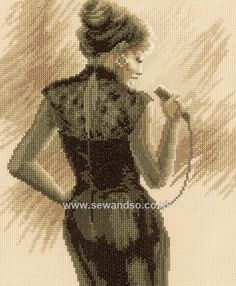 Buy Jazz Singer Cross Stitch Kit online at sewandso.co.uk