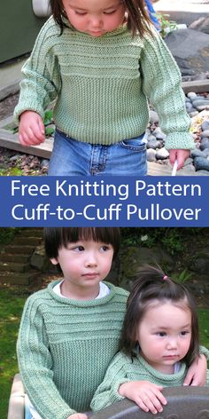 Thanks kelsieruoff for this post.Baby and Toddler Sweater Knitting Patterns - In the Loop Knitting.Free Knitting Pattern for Child's Sweater Cuff-to-Cuff Pullover for ages 4 through 10 - Long-sleeved sweater with rolled neckline knit sideways # baby Baby Knitting Patterns, Baby Cardigan Knitting Pattern, Baby Sweater Patterns, Stitch Patterns, Easy Knitting Projects, Knitting For Kids, Free Knitting, Knitting Charts, Knitting Needles