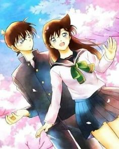 Ran And Shinichi, Detektif Conan, Romantic Anime Couples, Magic Kaito, Case Closed, Anime Ships, Idol, Running, Manga Art