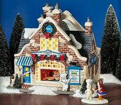 Dept 56 Snow Village ~ Pillsbury Doughboy Bake Shop ~ Mint In Box 55342 Little Christmas, Christmas Home, Grinch Christmas, Christmas Wishes, Christmas Ideas, Pillsbury Dough, Dept 56 Snow Village, Small Town America, Ceramic Houses