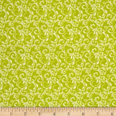 Cuddle Me Basics Flannel Scroll Lime from @fabricdotcom  Designed for StudioE Fabrics, this double-napped (brushed on both sides) flannel is perfect for quilting, apparel and home decor accents. Colors include white and green.