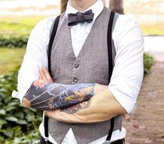 #FullSleeves  #FullSleeveTattoos #FullSleeveTattoo #Suspenders #BowTie #Vest
