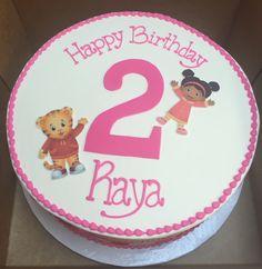 Daniel Tiger and Miss Elaina Birthday cake.