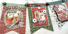 Be Merry, Be Bright! by Jana Eubank – Simple Stories Homemade Christmas Cards, Christmas Crafts, Christmas Banners, Christmas Decorations, Create A Banner, Jingle All The Way, Simple Stories, Merry And Bright, Winter Christmas