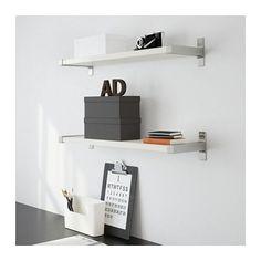EKBY JÄRPEN / EKBY BJÄRNUM Wall shelf, white, aluminum white/aluminum 31 1/8x7 1/2