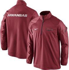 Nike Men's Arkansas Razorbacks Cardinal Defender Half-Zip Hybrid Top | DICK'S Sporting Goods