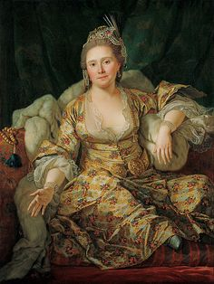 2nd half of the 18th c., Portrait of the Countess of Vergennes in Turkish…