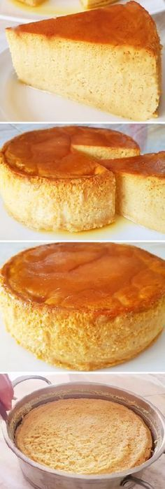 Ideas for cheese cake sin horno cakes No Bake Desserts, Just Desserts, Delicious Desserts, Dessert Recipes, Yummy Food, Mexican Food Recipes, Sweet Recipes, Flan Recipe, Savarin