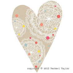 homepage > RACHAEL TAYLOR > MANILLA DOTTY BOHEMIAN HEART DECORATION