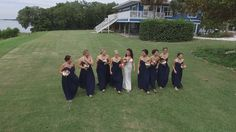 Wedding by drone at Tampa Bay Watch http://celebrationsoftampabay.com/photographers-st-petersburg/