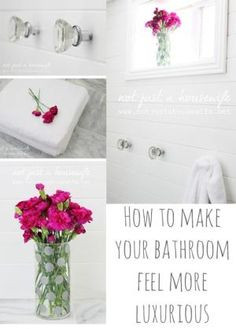 How to make your bathroom feel more luxurious! Small and simple changes. by ofelia