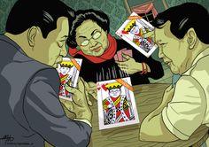 Masing-masing elite parpol memainkan kartu trufnya.