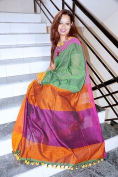 Khadi #Linen #Saree