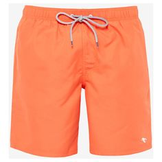 Ted Baker Solid color long swim short ($73) ❤ liked on Polyvore featuring men's fashion, men's clothing and men's swimwear