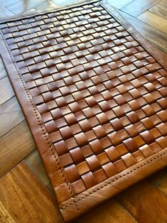 Leather Craft, Diy Leather Rug, Leather Gifts, What Is Order, Saddle Leather, Patchwork Rugs, Leather Projects, Cow Hide Rug, Leather Accessories