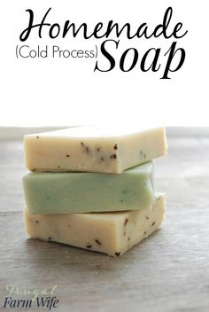 homemade cold-process soap is so easy to make. I love this recipe!