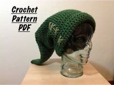 Link hat PATTERN, Legend of Zelda, handmade crochet, teen/adult size. $5.00, via Etsy.