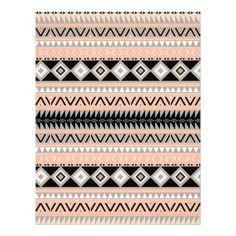 Motif aztèque de pêche d'abrégé sur de corail Girl Prospectus Customisé