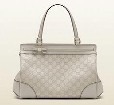 d28391f7cd8 Gucci Mayfair Medium Tote Bag Guccisima Leather Off White Purse