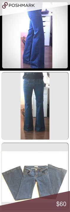 FREE PEOPLE Super Flare Hippie BoHo Jeans Sz 26 Act fast or these are going in my closet, lol. They are perfect. Free People Jeans Flare & Wide Leg
