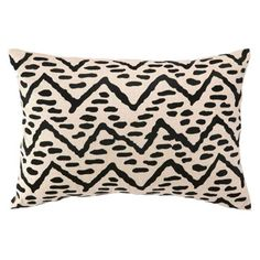 Tribal Pebble Embroidered Pillow 14″x 20″ $100