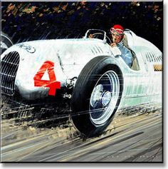 Sheridon Davies, Power and Glory Collection, race car art, motorsport art Car Prints, Car Posters, Vintage Race Car, Car Drawings, Automotive Art, Car Painting, Sports Art, Retro Cars, Art Images