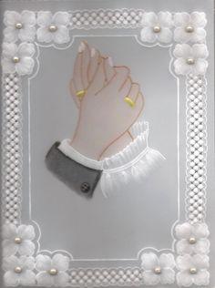 Parchment Design, Parchment Craft, Flower Background Wallpaper, Flower Backgrounds, Navy Wedding Invitations, Wedding Stationary, Farm Animal Crafts, Hardanger Embroidery, Diy Wedding Decorations