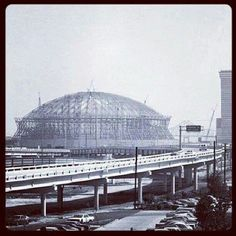 Superdome New Orleans being built Louisiana History, Louisiana Homes, New Orleans Louisiana, New Orleans Saints, New Orleans Superdome, New Orleans History, Crescent City, Down South, Nebraska
