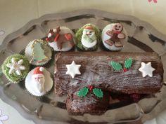 Tronco de Navidad y Muffins