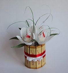 Подарки из конфет к 8 марта