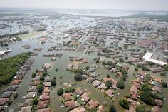 Texas pushes ambitious $61 billion resiliency plan after Hurricane Harvey. Pictured here: Aerial view of flooding in the Houston area during Hurricane Harvey.