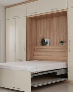 Luxury Fold up Wall-Bed A high gloss luxury wall bed is a truly glamorous addition to your home. Bedroom Cupboard Designs, Wardrobe Design Bedroom, Bedroom Cupboards, Bedroom Bed Design, Bedroom Furniture Design, Home Room Design, Modern Bedroom, Home Interior Design, Wardrobe Bed