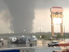 Tornado in Shawnee, Ok. May 19, 2013. Prayers for all those affected by this and other tornadic activity across Oklahoma tonight.