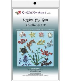 Quilling kits include basic instructions, patterns, ideas and coordinating quilling paper.