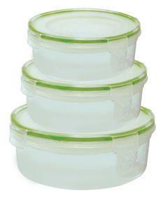 Another great find on #zulily! Six-Piece Round Click & Lock Storage Containers #zulilyfinds
