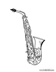 Saxophone Outline Clip Art at Clker