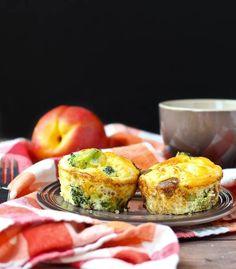 Turkey Sausage and Broccoli Egg White Frittata Muffins