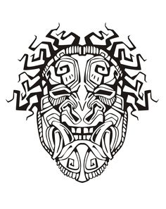 Adult Coloring Pages Mayan Mask 1 Adult Coloring Pages