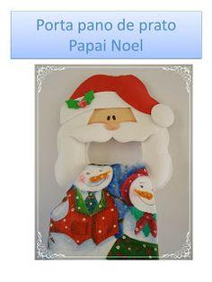 Porta Pano de Prato Papai Noel - Sibele