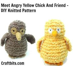 Hens and chicks to knit for spring 26 free patterns knitted yellow chick negle Gallery