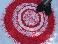 Hey, I found this really awesome Etsy listing at https://www.etsy.com/listing/477597559/pink-red-round-rag-rug-26-diameter