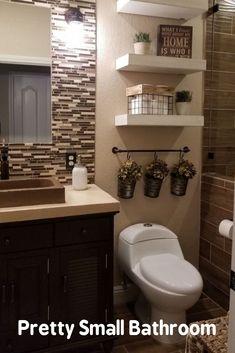 Boho Home Decor rustic bathroom decor ideas # rusticbathroomdecor.Boho Home Decor Rustic Bathroom Decor Ideas Guest Bathrooms, Budget Bathroom, Bathroom Ideas, Bathroom Designs, Remodel Bathroom, Simple Bathroom, Bathroom Remodeling, Bathroom Things, Bathroom Vinyl